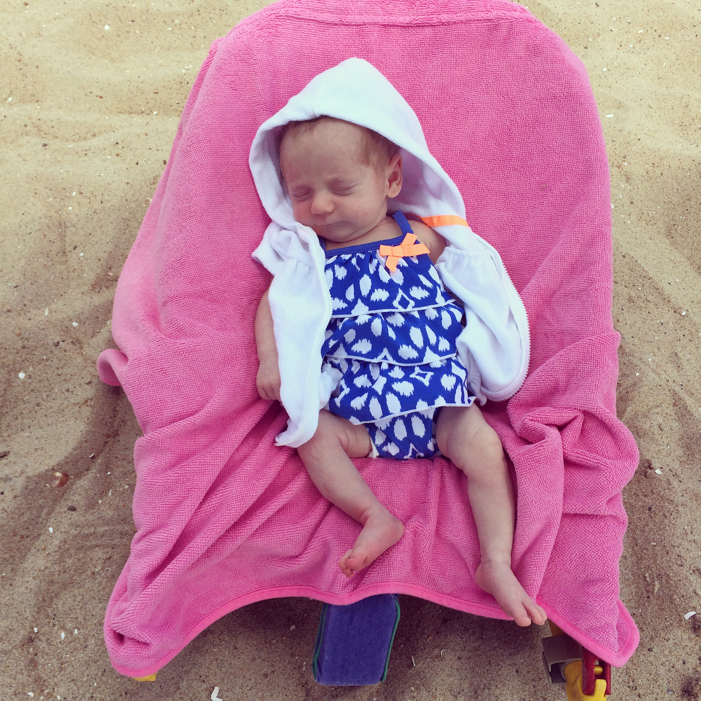 chillin' in her beach chair